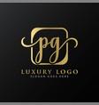 initial pg letter logo design modern typography vector image vector image