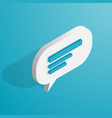 isometric chat icon vector image
