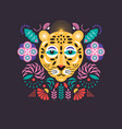 leopard stylized vector image vector image
