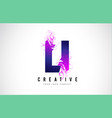 li l i purple letter logo design with liquid vector image vector image