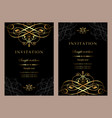 luxury invitation card template for design vector image vector image