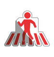 man silhouette walking crosswalk vector image vector image