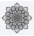 mandala stylized floral circular monochrome vector image vector image