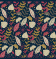 modern seamless pattern with hand drawn wild vector image