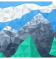 mountain landscape mosaic in summer vector image