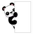 Panda vertical banner vector image vector image