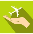Protection of air travel icon flat style vector image vector image