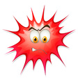 Red boom with angry face vector image vector image