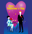 s valentines lovers waiting for dinner vector image