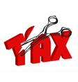 scissors cut taxes vector image