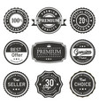 seal and labels premium quality prouct vector image vector image