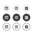 set 3 simple design calendar icons rounded vector image