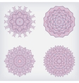 set decorative pattern vector image vector image