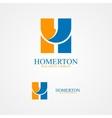 set letter h logo for design template elements vector image vector image