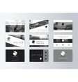 Set of business cards gray background Template vector image vector image