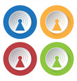 set of four icons - transmitter vector image