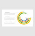 set orange and blue yellow green elements for vector image