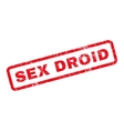 Sex Droid Rubber Stamp vector image vector image