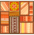 siberian ethnic patterns vector image vector image