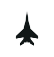 simple black Jet fighter icon on white background vector image vector image