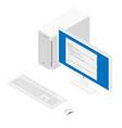 software web development programming concept vector image vector image