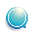 Speech bubble blue vector image vector image
