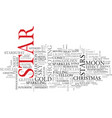 star word cloud concept vector image