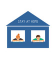 stay at home reading kids vector image vector image