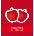 stickers apple red dot background vector image vector image