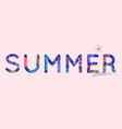 summer time wallpaper typographical background vector image