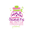 sweets premiun product logo design emblem for vector image vector image