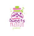 sweets premiun product logo design emblem vector image vector image