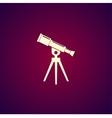 Telescope icon Flat design style vector image