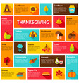 thanksgiving infographic concept vector image vector image