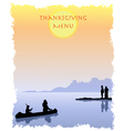 Thanksgiving Menu vector image vector image