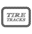 Tire tracks frame vector image vector image