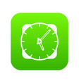 watch icon digital green vector image vector image