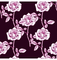 Rose sketch seamless vector image