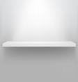 empty shelf for exhibit vector image