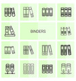 14 binders icons vector image vector image