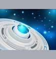 abstract futuristic eyeball on circuit board high vector image vector image