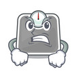 angry weight scala on the mascot table vector image vector image