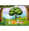 Animals at the forest vector image vector image