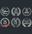 anniversary laurel wreath collection 25 years vector image vector image