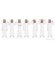 arab man character set emotions vector image vector image