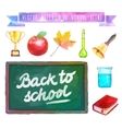 Back to school Watercolor with vector image vector image
