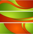 Bright corporate waves banners vector image vector image