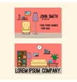 Business card template with design of sitting room vector image vector image