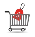 buying cart sale money design vector image vector image