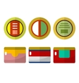 Canned food flat icons vector image